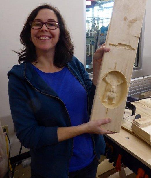 Handibot 3D carving