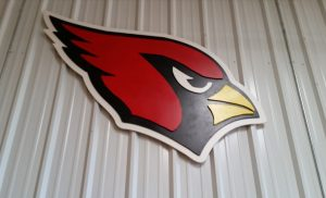 Arizona Cardinals sign made with ShopBot PRSalpha CNC