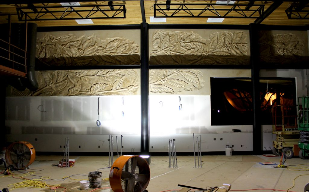 counter backdrop by oak branch cnc