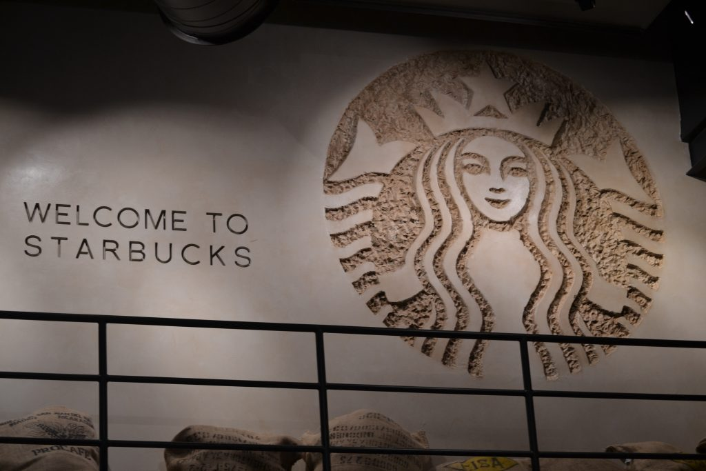 starbucks downtown disney welcome wall