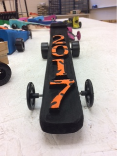 CO2 car made in high school carpentry class