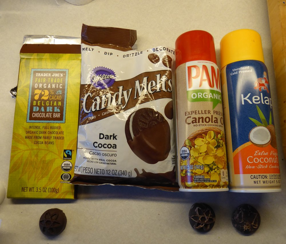 chocolate and cooking sprays