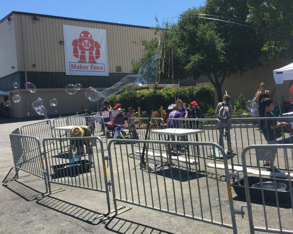 bubbles at san mateo maker faire 2017