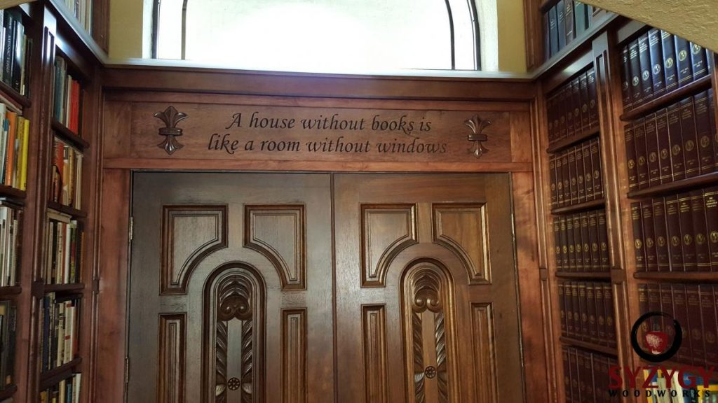 horace mann quote on doorway