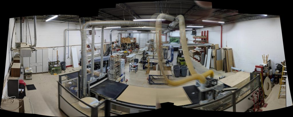 Panoramic view of Atlanta Closet & Storage Solutions production facility