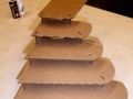 Cardboard model of car steps.
