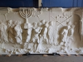 Spoils panel of the Arch of Titus reproduction