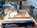 David Dollar's Elliott Tonemaster guitar being cut on a ShopBot Desktop