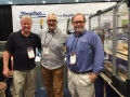 ShopBot's Gordon Bergfors and Chris Burns with Tim Teel of Martin Guitars