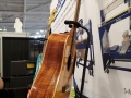 Side view of one of the guitars on display at the ShopBot booth at Summer Namm 2019