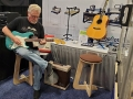 John Farrell jamming at the ShopBot booth at Summer NAMM 2019